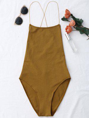 Rückenfrei Kreuzgurte Bodysuit