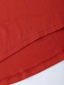 51474f353763c1 36% OFF  2019 American Flag Sequins Cold Shoulder T-Shirt In RED