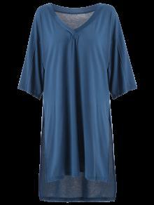 De Baja 250;nica T L De Alta Camiseta Azul Rajadura Alta ICwXgqCxn