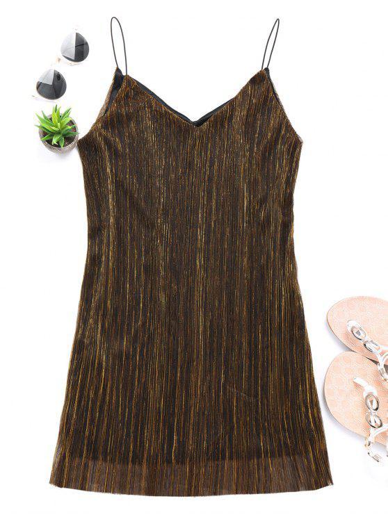 Vea a través del vestido del club reluciente - Dorado S