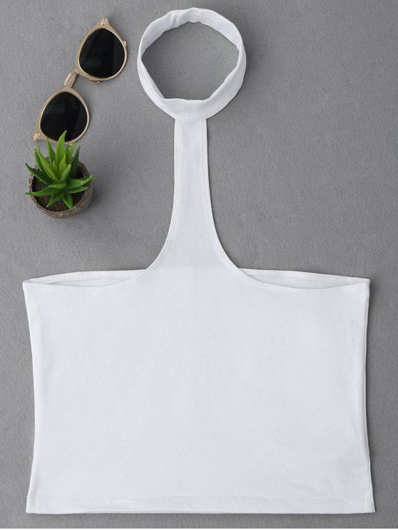 best Cropped Racerback Tank Top - WHITE ONE SIZE