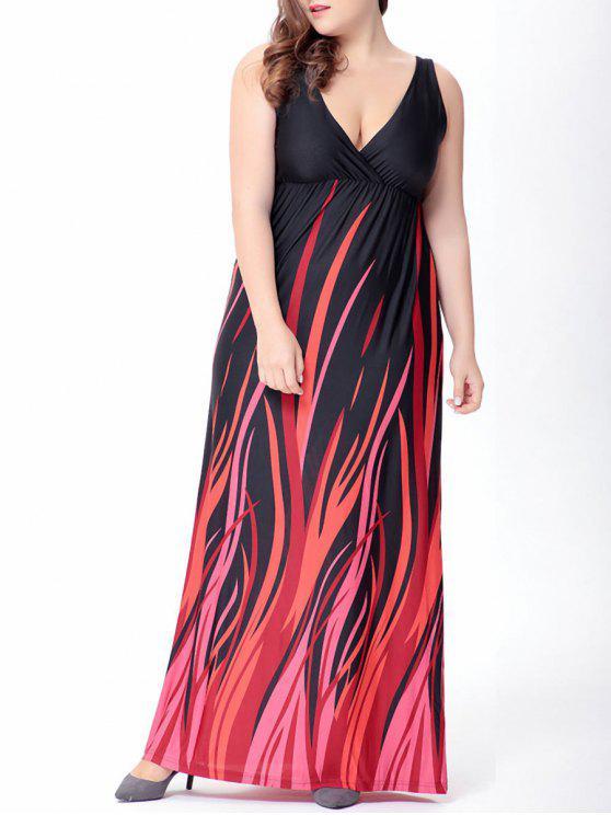 d699e5049b02 41% OFF  2019 Plus Size Plunge Long Empire Waist Formal Dress In ...