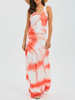 Racerback Tie Dyed Maxi Dress - Jacinth M