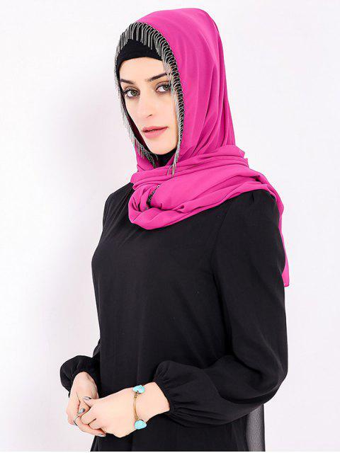 fashion Chiffon Muslim Gossamer Metal Fringed Hijab Headscarf - TUTTI FRUTTI  Mobile