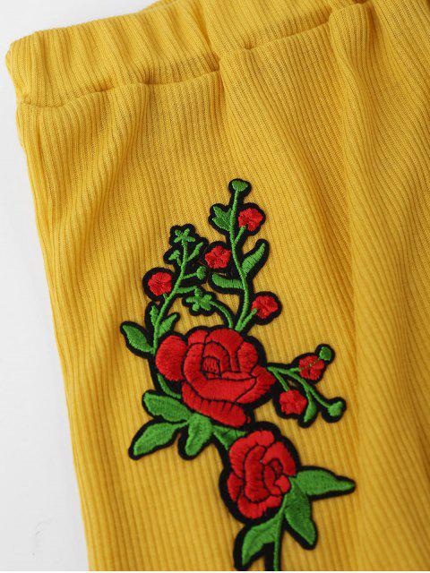 Débardeur bordé bordé et tricot court - Jaune L Mobile