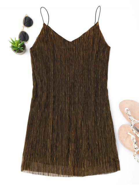 shops See Through Glittered Club Dress - GOLDEN S Mobile