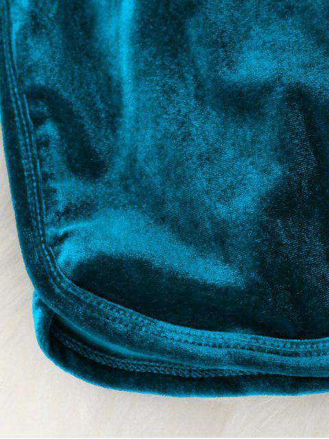 Short élastique en velours décontracté - Bleu M Mobile