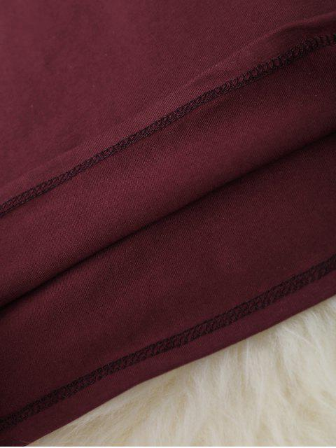 outfit Cropped Racerback Tank Top - WINE RED ONE SIZE Mobile