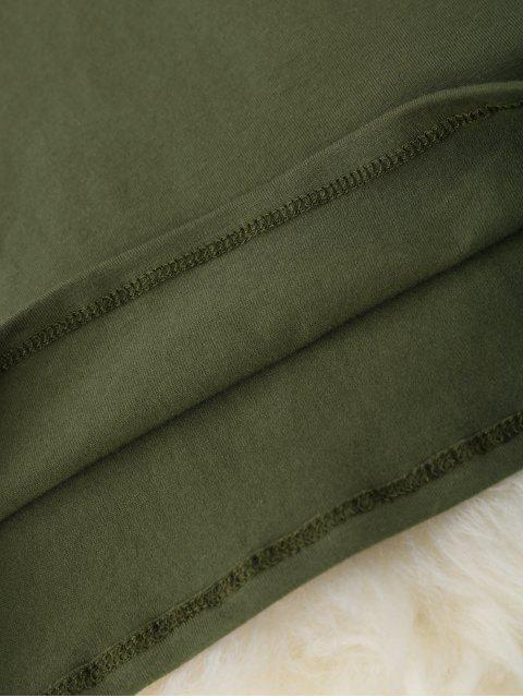 outfits Cropped Racerback Tank Top - ARMY GREEN ONE SIZE Mobile