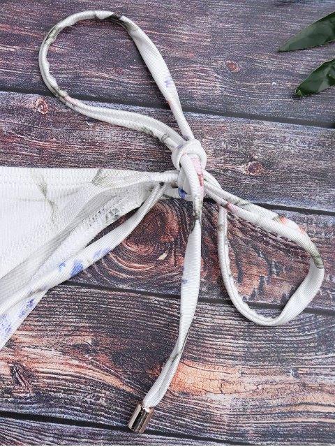 Bottines en bikini à cordes minuscules - Blanc S Mobile
