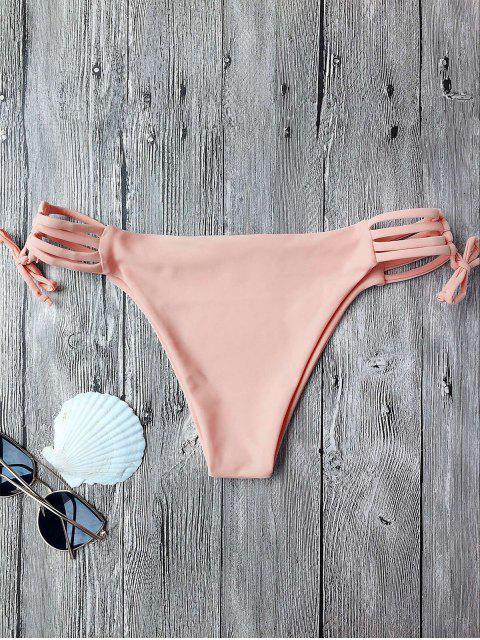 Bas de bikini à bandes - ROSE PÂLE S Mobile