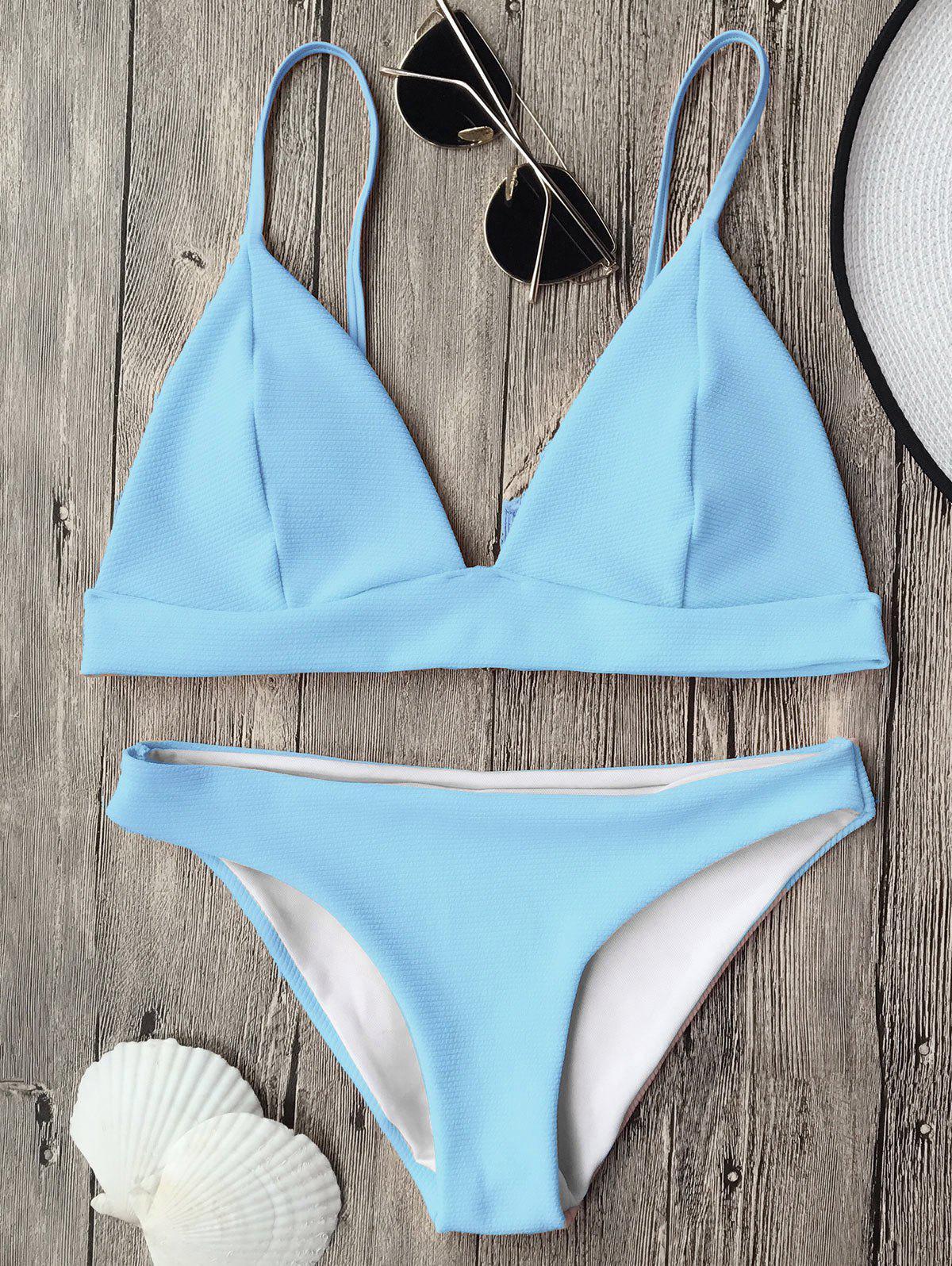 Cami Plunge Bralette Bikini Top and Bottoms