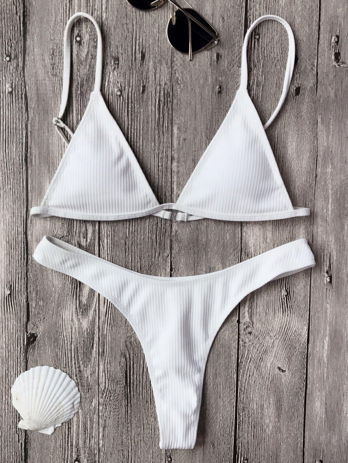 Textured Plunge Bikini