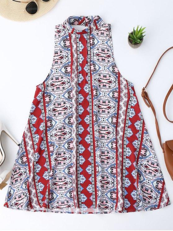 فستان عاري الذراعين المطبوعة - Colormix M