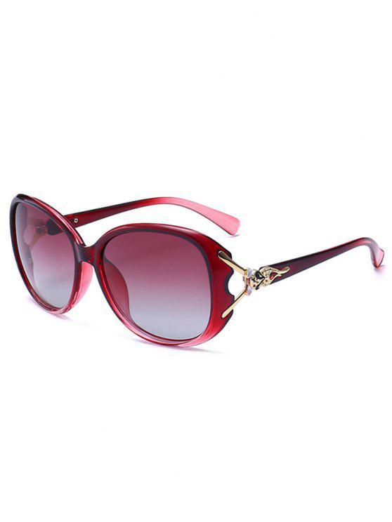 نحت المعادن البطانة النظارات الشمسية أومبير - أحمر