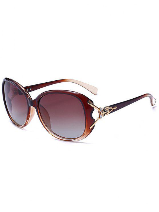نحت المعادن البطانة النظارات الشمسية أومبير - بلون الشاي