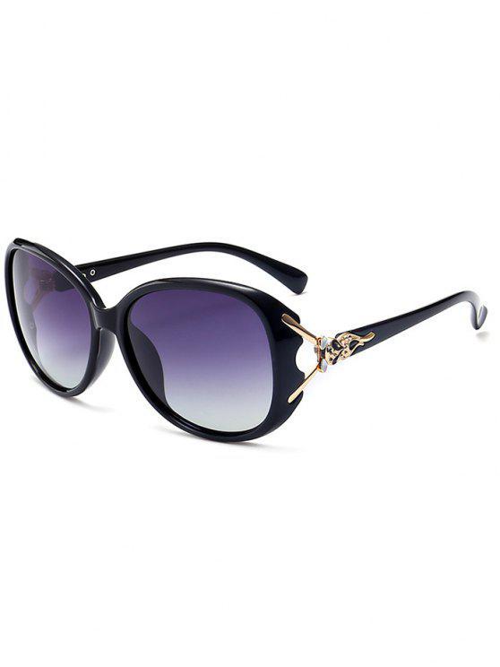 نظارات شمسية بتصميم فريد - الإطار أسود + رمادي عدسة