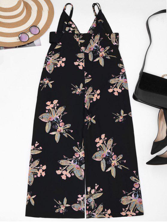Correas Pantalón largo floral - Negro M