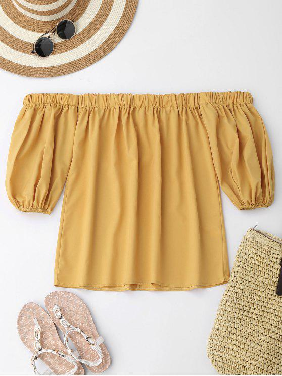 women Off Shoulder Puff Sleeve Blouse - GINGER XL