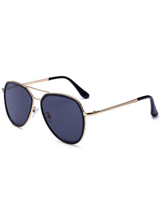 حماية من الأشعة فوق البنفسجية مزدوجة النظارات المعدنية العارضة بوليت - أسود رمادي