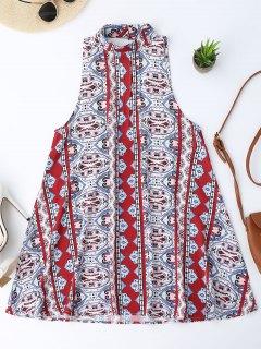 Robe En Tunique Imprimée Sans Dossier - M