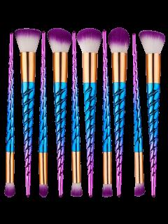 Ensemble De Pinceaux De Maquillage Unicorn De 10 Pcs Ombre - Bleu Et Rouge