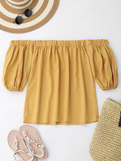 Off Shoulder Puff Sleeve Blouse - Ginger L