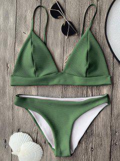 Cami Tiefer Ausschnitt Bralette Bikini Top Und Bottoms - S
