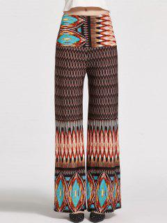 Floral Printed High Waisted Palazzo Pants - S