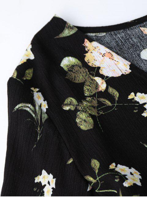 Short de taille et élastique à rayures élastiques Bowknot - Floral L Mobile