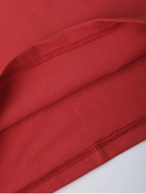 Tirage à la lettre Halter Top - Rouge S Mobile