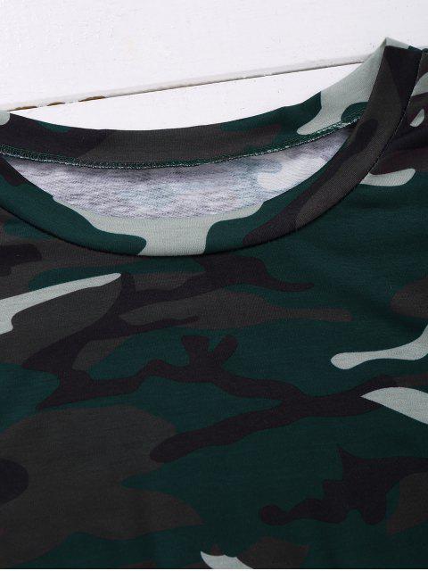 shop Camo T-Shirt Dress - CAMOUFLAGE M Mobile