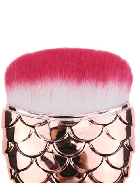 Brosse à maquillage facial en forme de sirène - Or Rose  Mobile