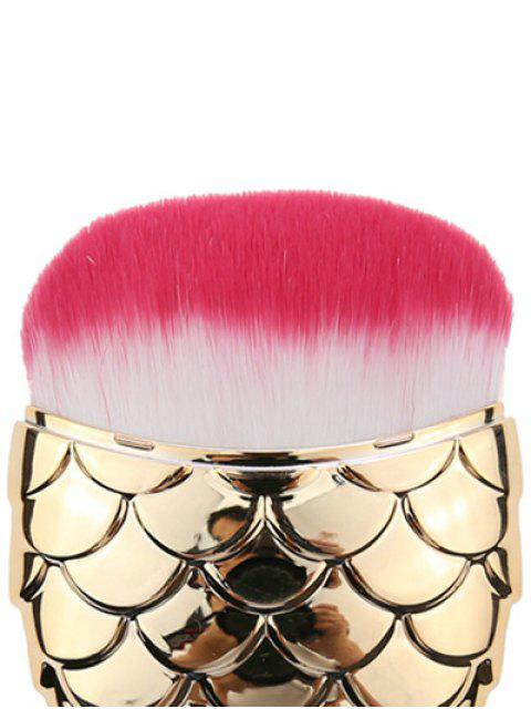 unique Cambered Hair Mermaid Shape Facial Makeup Brush - GOLDEN  Mobile