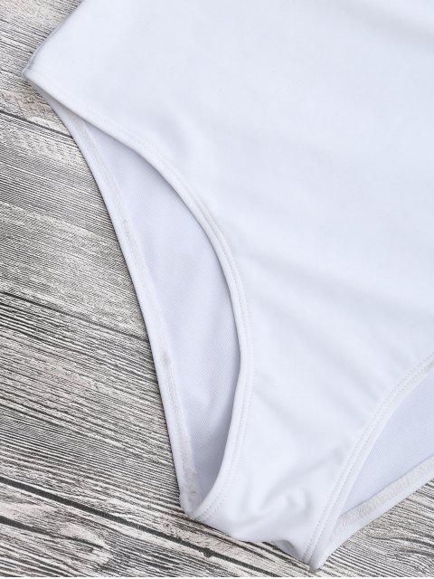 Maillot de bain en une tranche - Blanc L Mobile
