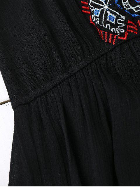 Robe D'été avec Broderie à Glants - Noir TAILLE MOYENNE Mobile