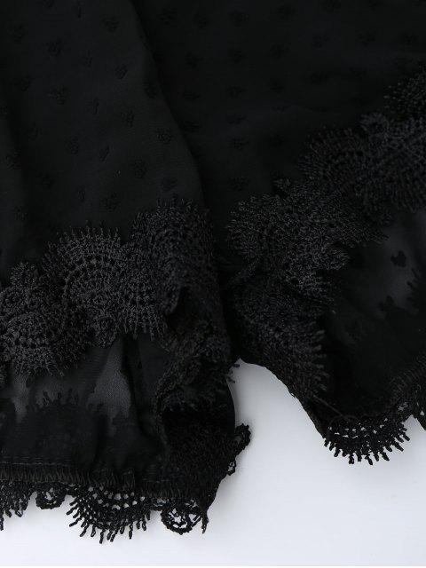 combinaison en dentelle à bretelles à épaules nus avec des pois - Noir S Mobile