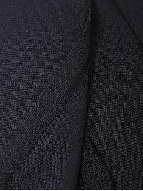 affordable Straps Slit Mesh Panel Sheath Dress - BLACK L Mobile