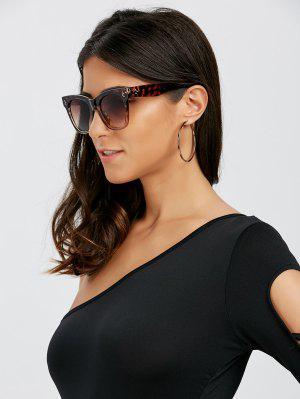 Ombre Protección UV Gafas De Sol Wide Wayfarer - Leopardo