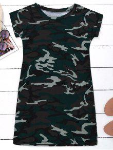 Camo T-Shirt Dress - Camouflage Xl