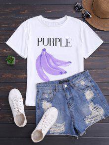 Graphic Banana Short Sleeve T-Shirt - White