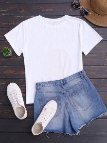 Impresi Manga De Naranja Corta Camiseta De 243;n Blanco 7wI5tqX
