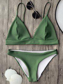 Bikini à Bretelles Col Plongeant  - Vert M