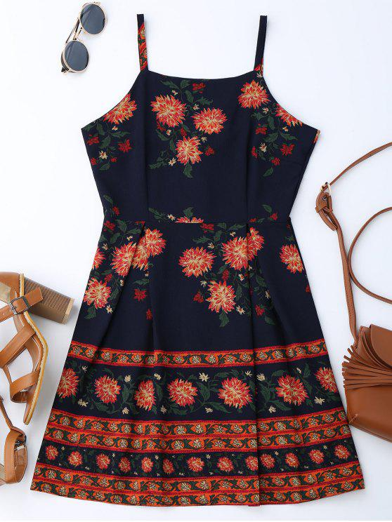 Vestido Floral de Verano con Tirantes Finos - Colormix M
