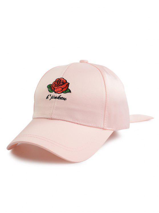 روز رسائل التطريز بونوت الذيل قبعة بيسبول - زهري حجم واحد