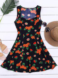 Sleeveless Pineapple Watermelon Dress - Xl
