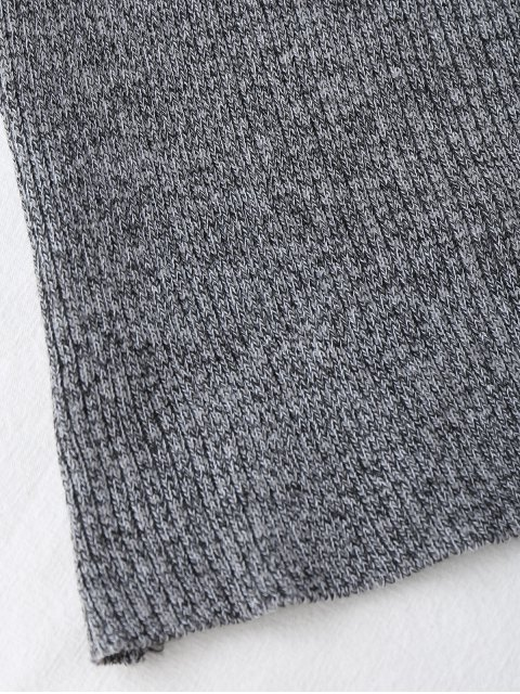 online Halter Knitting Ribbed Tank Top - GRAY ONE SIZE Mobile