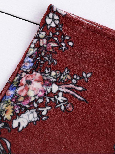 Velvet Floral Crop Top et Bodycon Jupe - Clairet M Mobile