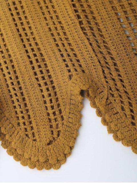 latest Scalloped Crochet Tank Top - EARTHY ONE SIZE Mobile