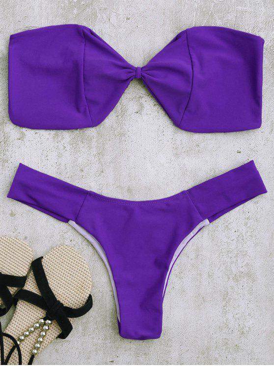 Top de bikini y parte superior de bikini - Púrpura S